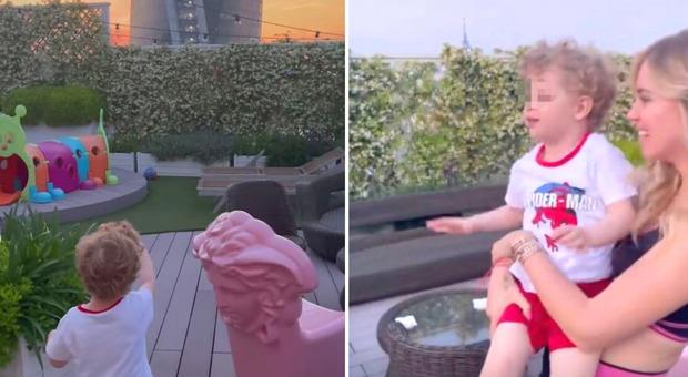 Chiara Ferragni, un insaspettato regalo per Leone solca i cieli di Milano: la dolce reazione del piccolo