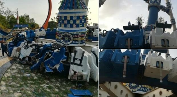 La giostra crolla al suolo, tre ragazzi morti e 27 feriti in un parco giochi