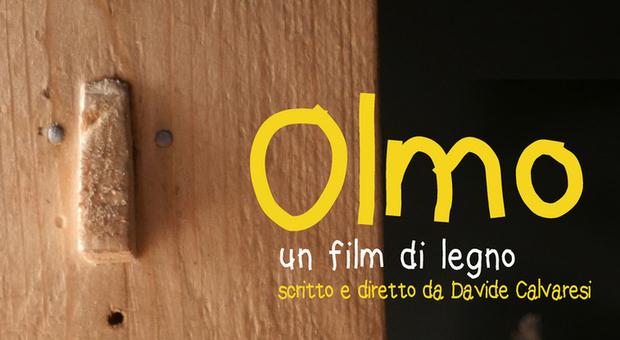 La locandina di Olmo, un film di legno che a Calvaresi ha fruttato il Globo d oro