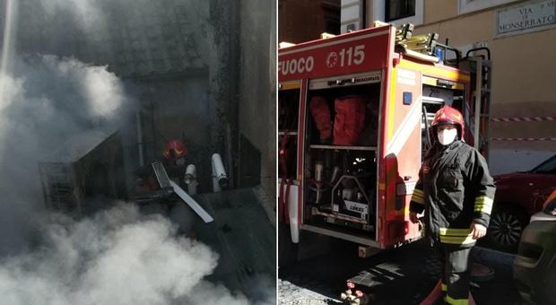 Roma, incendio in un appartamento del centro: donna muore tentando di sfuggire alle fiamme, grave il marito