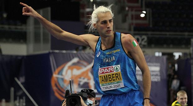 L'anconetano Gianmarco Tamberi, primatista italiano e argento europeo indoor in questa stagione