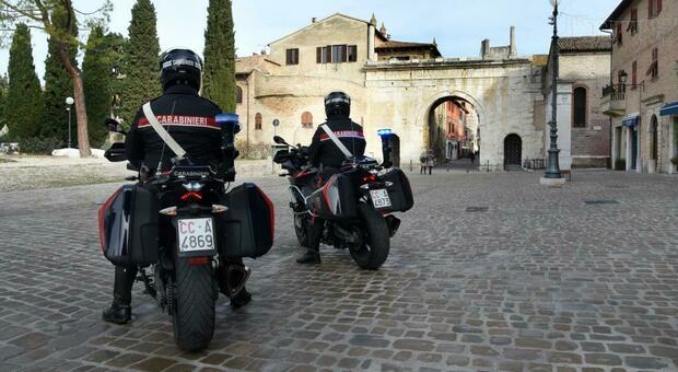 I carabinieri in moto al Pincio
