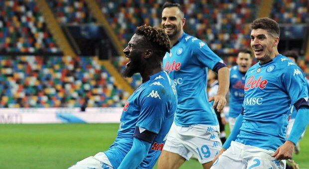 Udinese-Napoli 1-2: Bakayoko all'ultimo respiro, Gattuso tiene la scia Champions