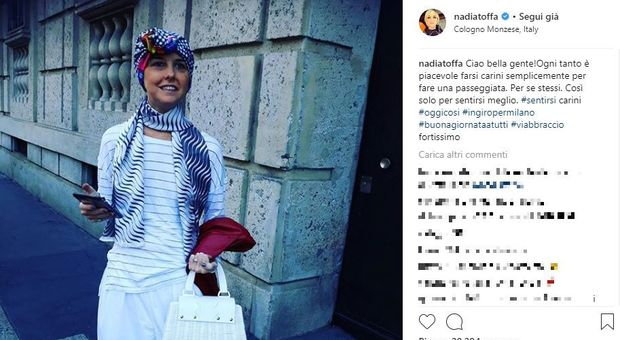 Nadia Toffa saluta i suoi fan su Instagram. Sorride nonostante la malattia «E' bello sentirsi carini, fa bene»