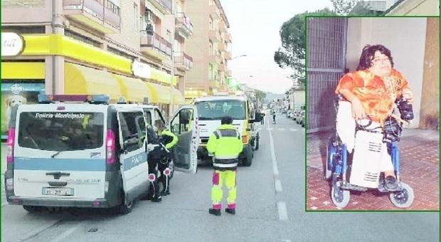 Il luogo dell'investimento e la vittima: Antonio Cetta