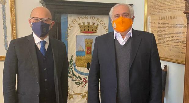 Da sinistra il questore Vincenzo Trombadore e il sindaco Roberto Mozzicafreddo