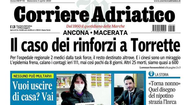 Non volete stare in casa? Comprate il Corriere Adriatico, nessuna multa