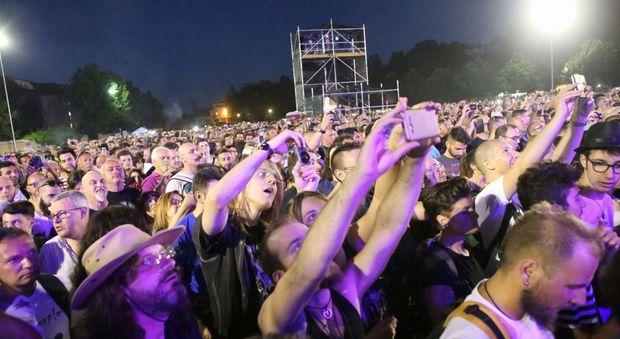 Il pubblico in attesa dei Deep Purple