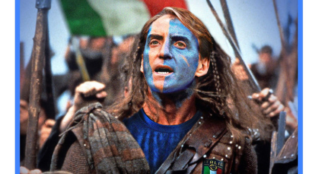 Italia-Inghilterra, gli scozzesi tifano per gli Azzurri e Mancini diventa Braveheart: «Roberto salvaci»