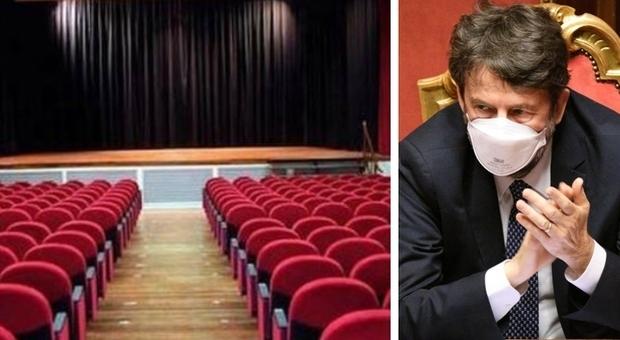 Cinema e teatri riaperti dal 27 marzo. L'annuncio di Franceschini: «Ma solo se in zona gialla»