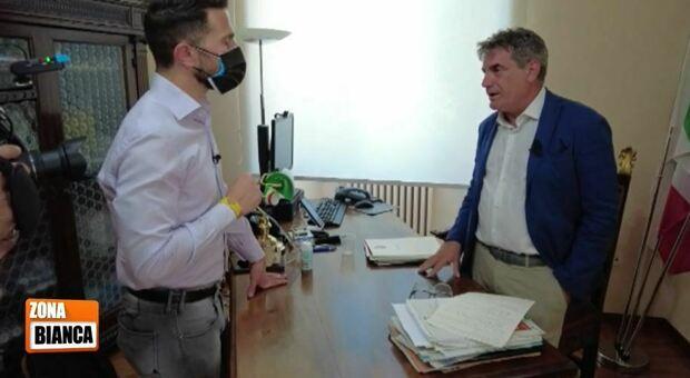 Il sindaco Seri intervistato su Rete4 nel programma Zona Bianca
