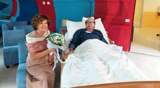 Davide, malato di cancro, e il matrimonio in ospedale con la sua Nuccia prima di morire