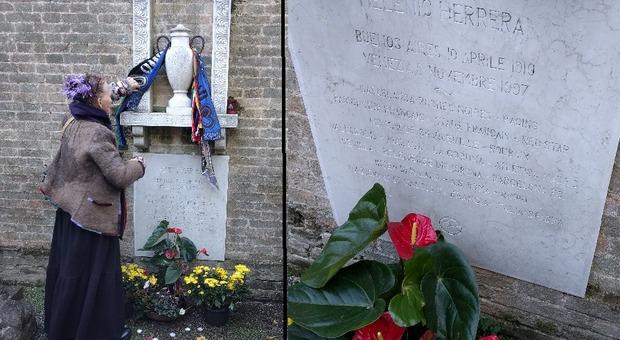 La vedova Herrera sulla tomba: «Helenio dimenticato da tutti»