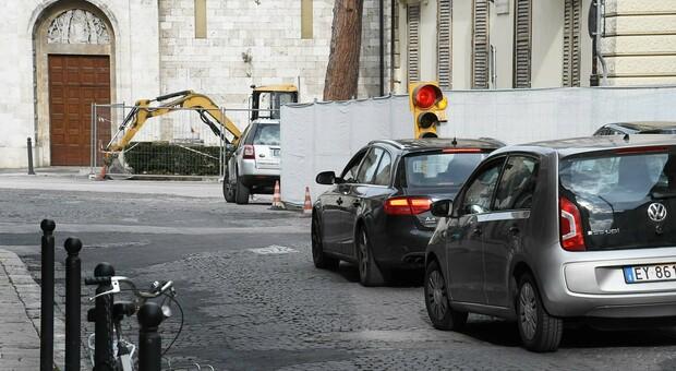 Il precedente cantiere a via Trieste