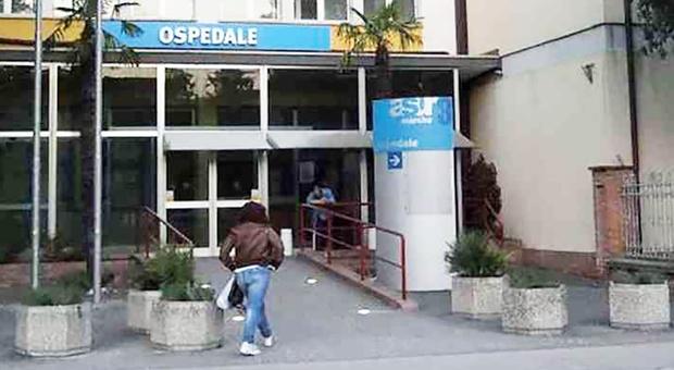 L'ingresso dell'ospedale di comunità di Fossombrone