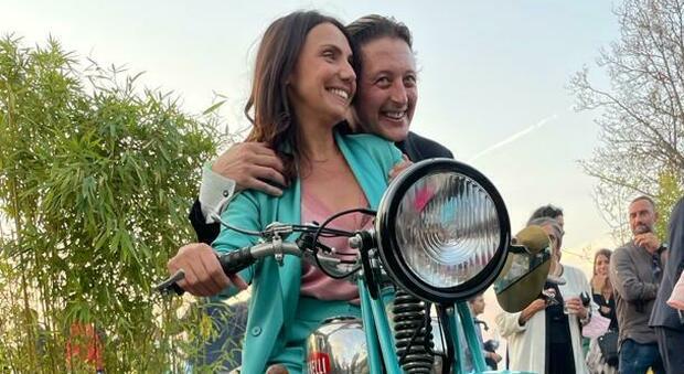 La regista Marta Miniucchi e l attore protagonista Alessandro Gimelli