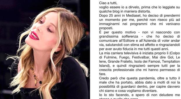 Alessia Marcuzzi dice addio a Mediaset dopo 25 anni: la conduttrice racconta cosa è