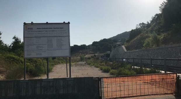 Un cantiere della Quadrilatero tra Umbria e Marche