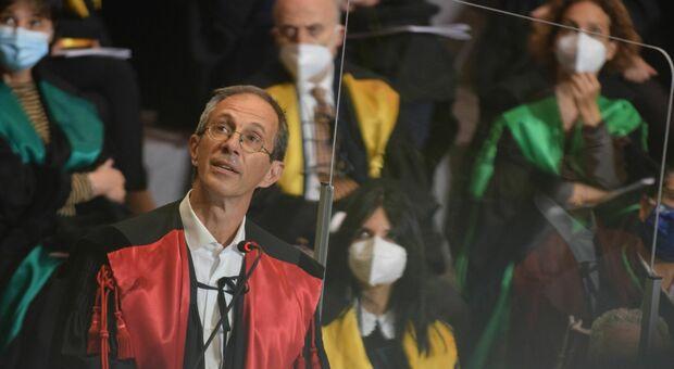 Il prof Stefano Menzo all'inaugurazione dell'anno accademico dell'Università Politecnica delle Marche