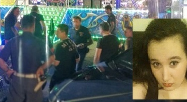 La polizia al Luna Park subito dopo la tragedia (Foto da Leggo.it)