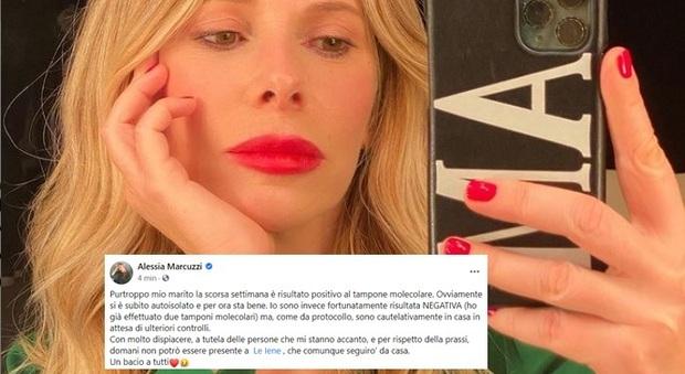 Alessia Marcuzzi salta la puntata de Le Iene: «Mio marito positivo al Covid»