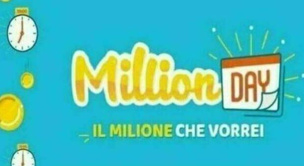 Million Day, l'estrazione dei cinque numeri vincenti di mercoledì 21 luglio