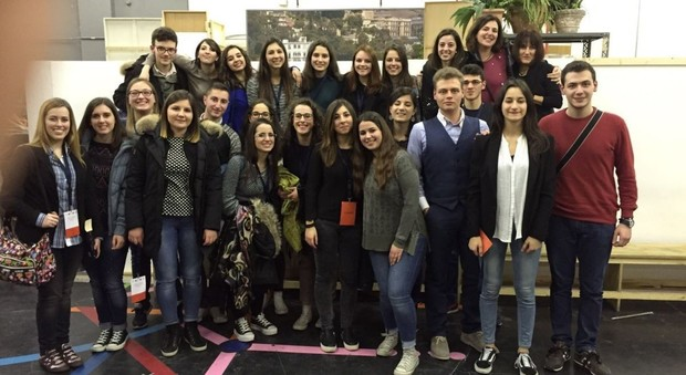 I ragazzi della Quinta Br del Liceo Classico Leopardi