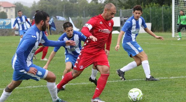 Vito Falconieri, 34 anni, attaccante dell'Anconitana