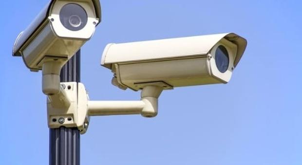 Un impianto di telecamere per la videosorveglianza