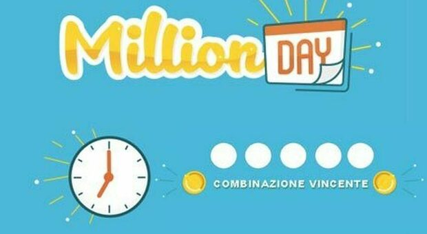 Estrazione Million Day di oggi giovedì 11 marzo 2021, in diretta i cinque numeri vincenti.