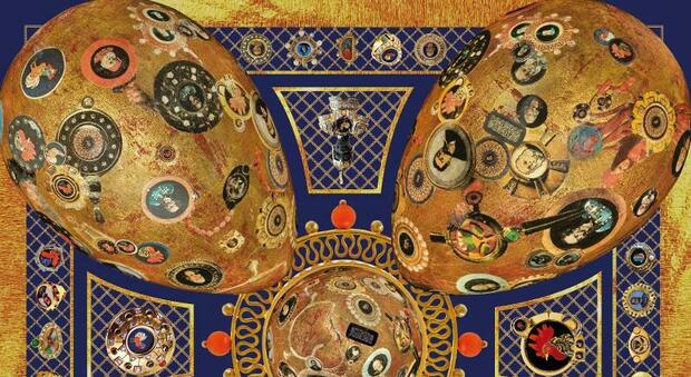 Il foulard fiaba di vetro ispirato alle murrine