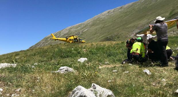 Un intervento del soccorso alpino (foto d'archivio)