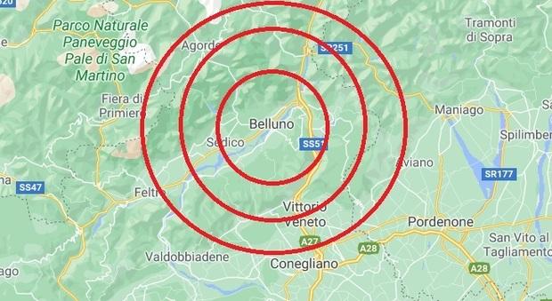 Scossa di terremoto oggi a Belluno: sentita molto bene