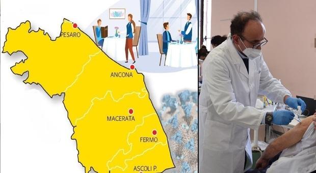 L'epidemia in ritirata dalle Marche, ma la zona bianca Covid non è ancora all'orizzonte
