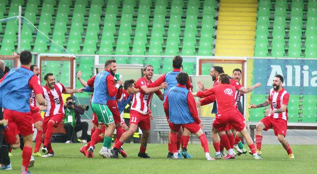 La festa del Matelica allo stadio di Cesena