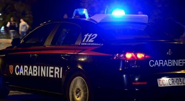 Carabinieri impegnati di notte, foto tratta dal Web