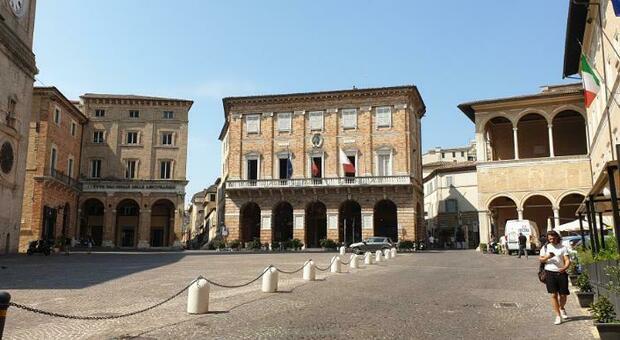 La piazza di Macerata