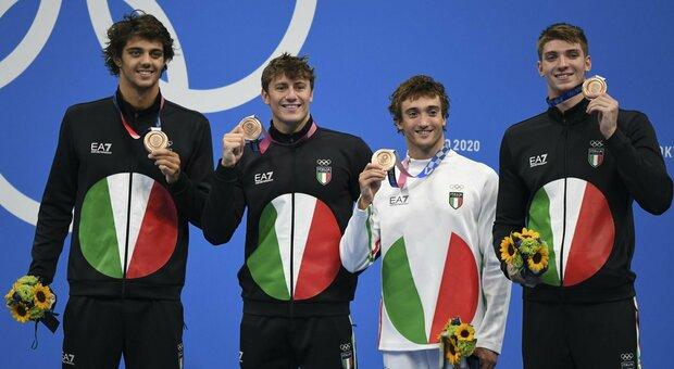 Nuoto, l'Italia vince il bronzo alle Olimpiadi: «Nel 2024 ci prenderemo l'oro a Parigi»