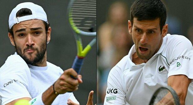 Berrettini affronta Djokovic per entrare nella storia. Alle 15 diretta della finale di Wimbledon