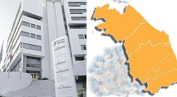 """Sette comuni delle Marche sul filo dell'arancione rinforzato: lunedì il """"verdetto"""""""