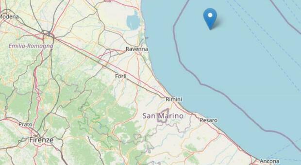 Terremoto in Adriatico, scossa 4.1 avvertita anche nelle Marche
