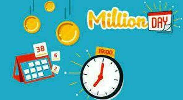 Million Day, estrazione dei cinque numeri vincenti di oggi 16 luglio 2021