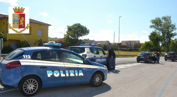 I controlli della polizia a Senigallia