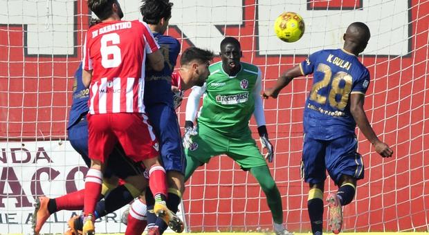 Un'immagine di Vis Pesaro-Perugia finita 0-1