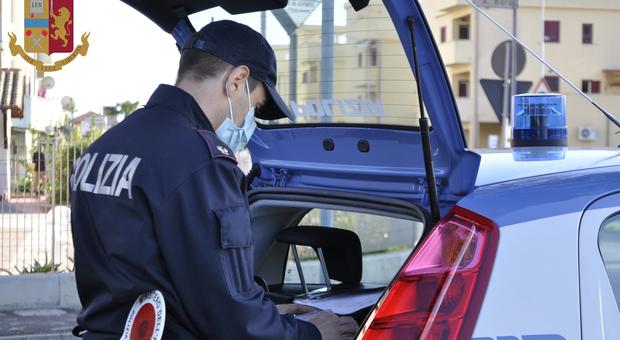 I controlli della polizia a Fermo