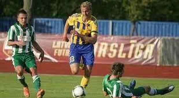 L'attaccante Kaspars Svarups, 27 anni, finito nel mirino della Samb