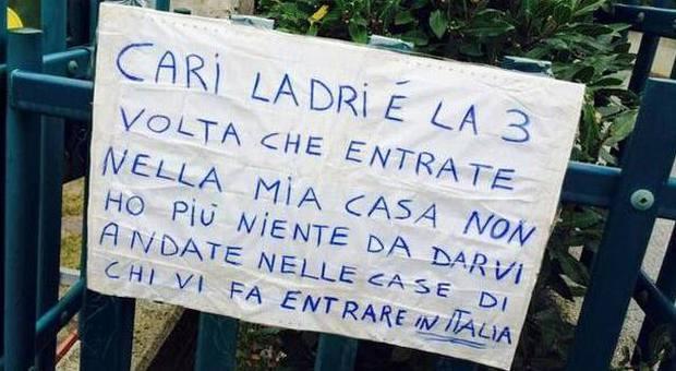 Terzo furto in casa rubate a chi vi fa entrare in italia for Chi fa le leggi in italia