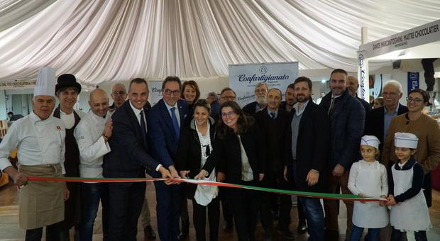 L'inaugurazione di Choco Marche