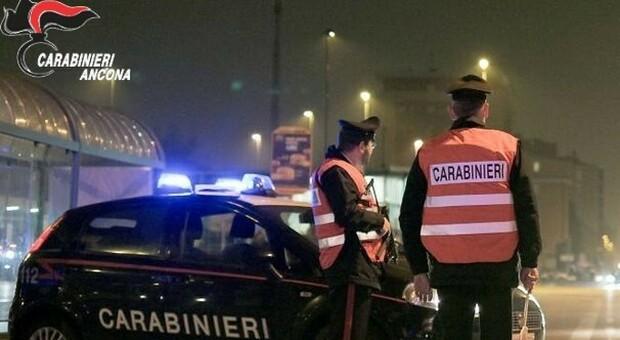 Un posto di controllo dei carabinieri di Ancona