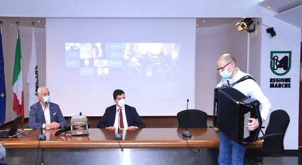 La presentazione in Regione del documentario sulla fisarmonica in onda su Sky Arte